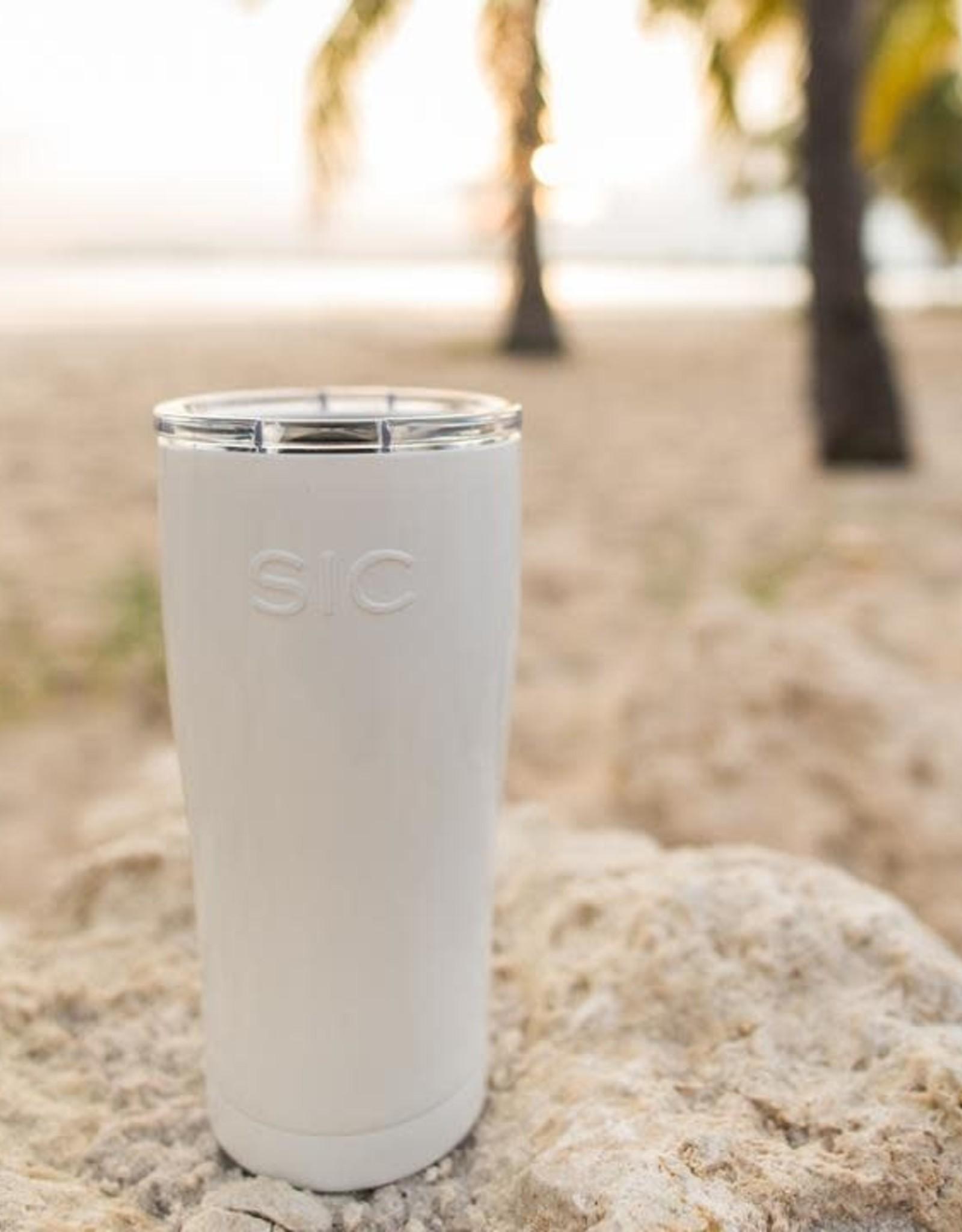 SIC 20 oz Gloss Ice White Stainless Steel Tumbler