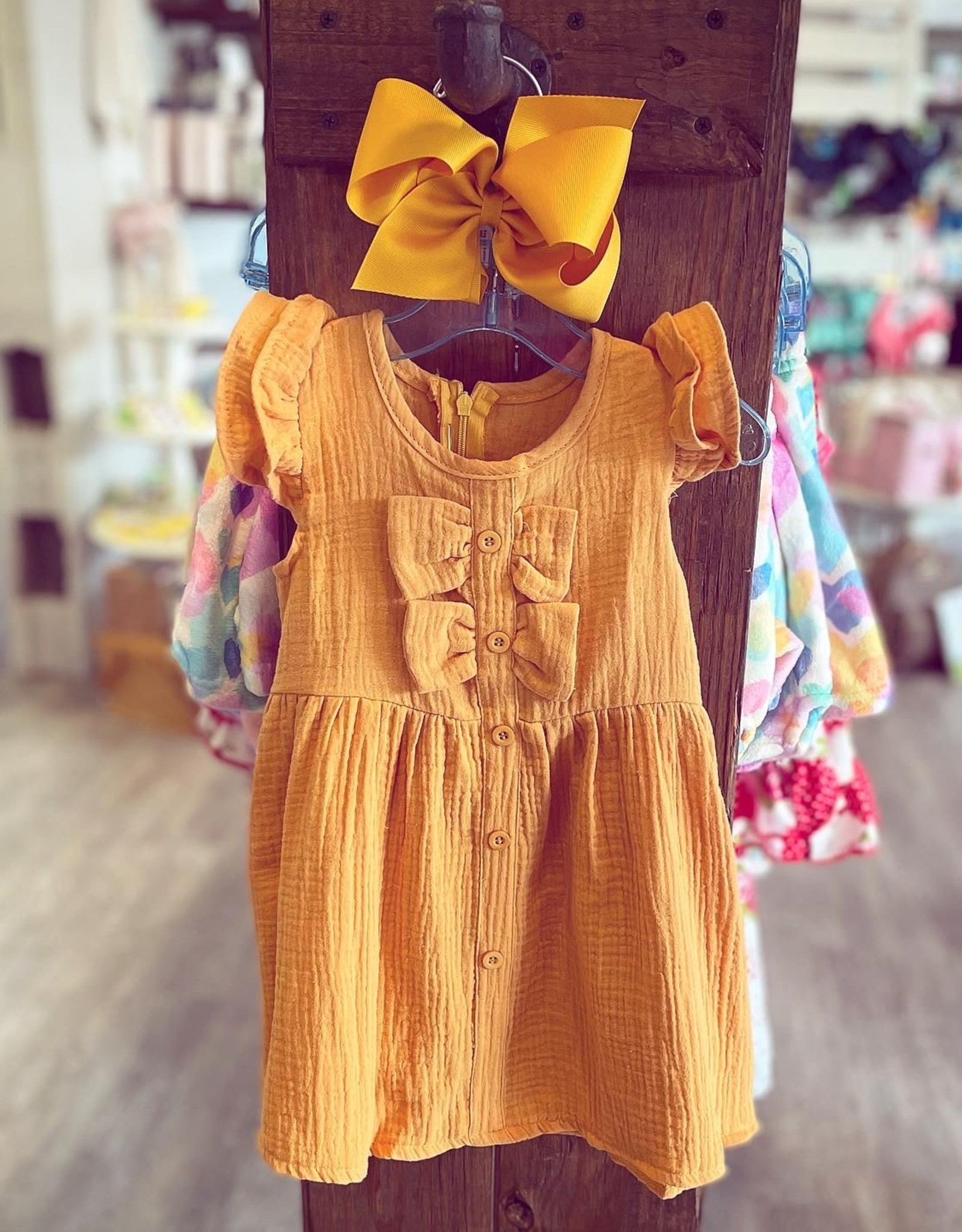 Honeydew The Melody Dress in Mustard