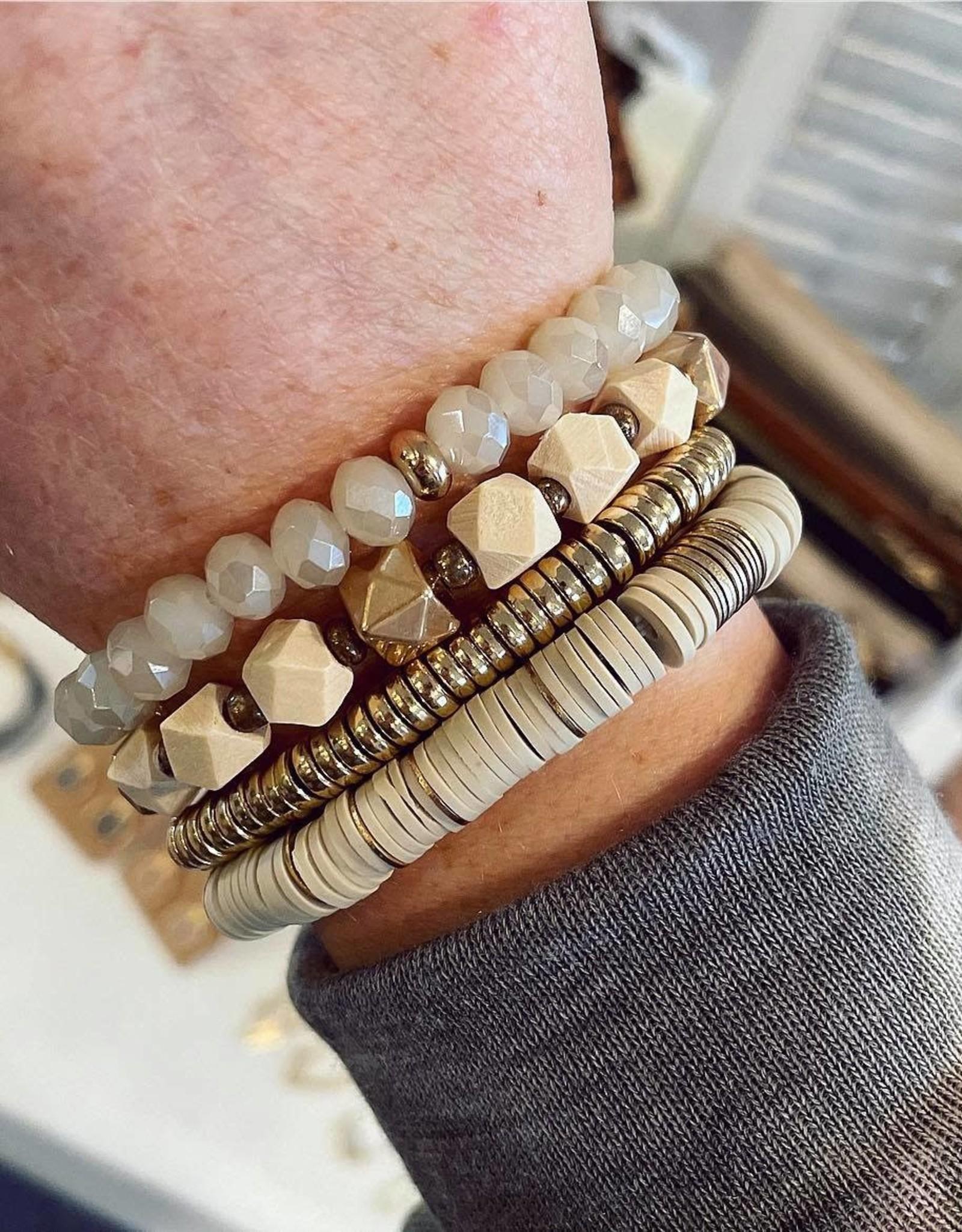 Olivia Stretch Bracelet Set in Ivory