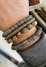 Olivia Stretch Bracelet Set in Grey