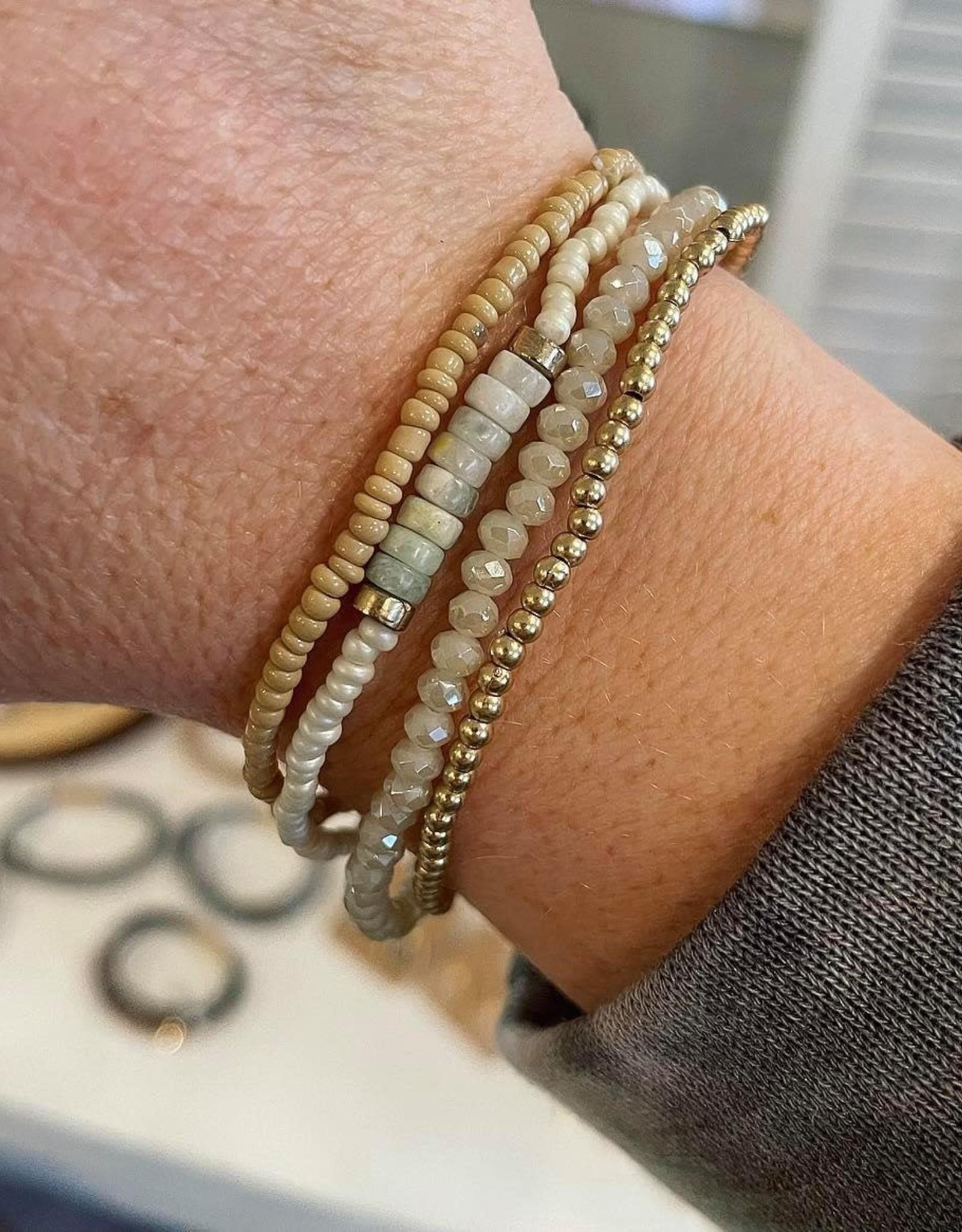 Amy Stretch Bracelet Set in Ivory