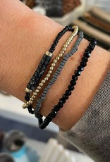 Amy Stretch Bracelet Set in Black