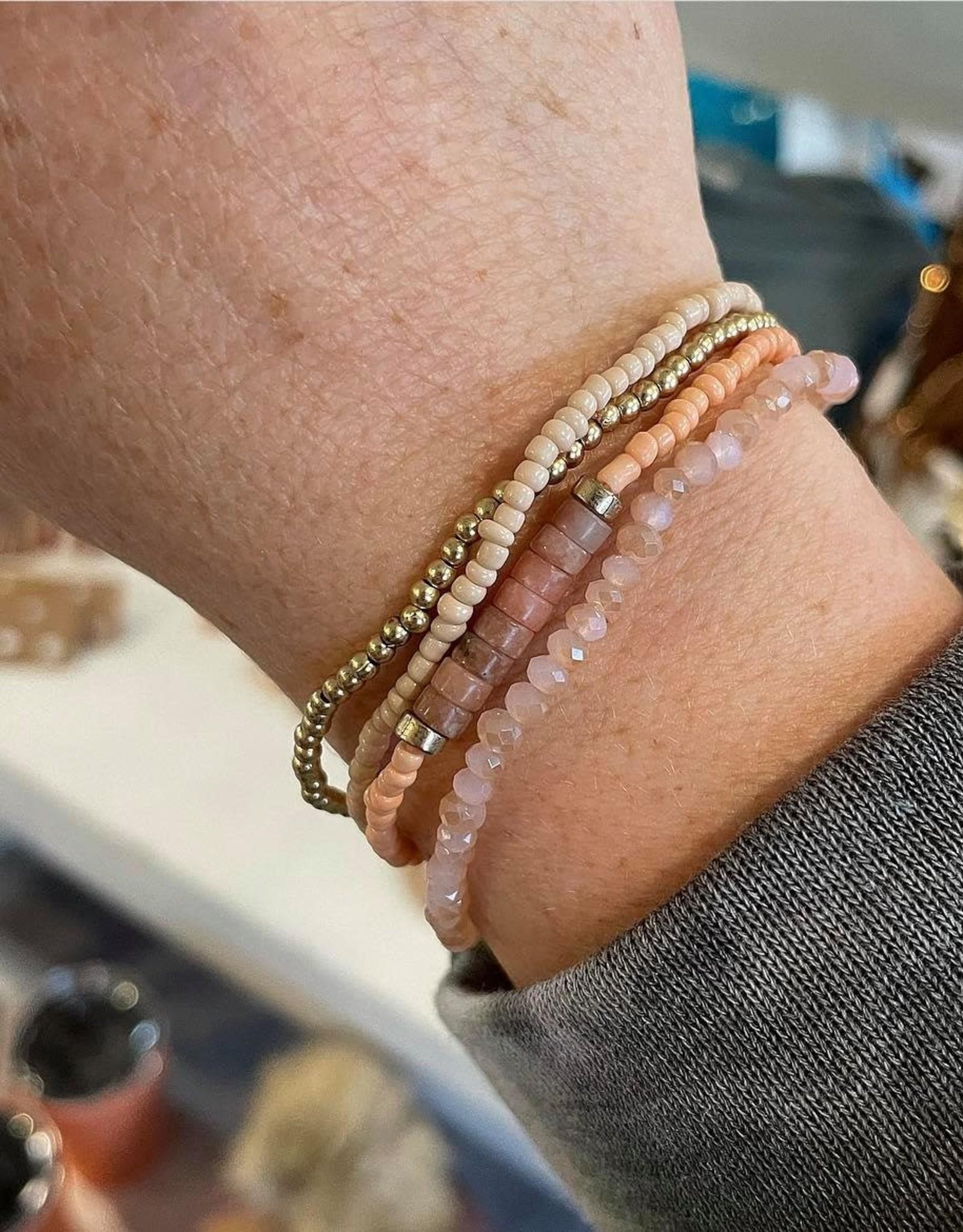 Amy Stretch Bracelet Set in Pink