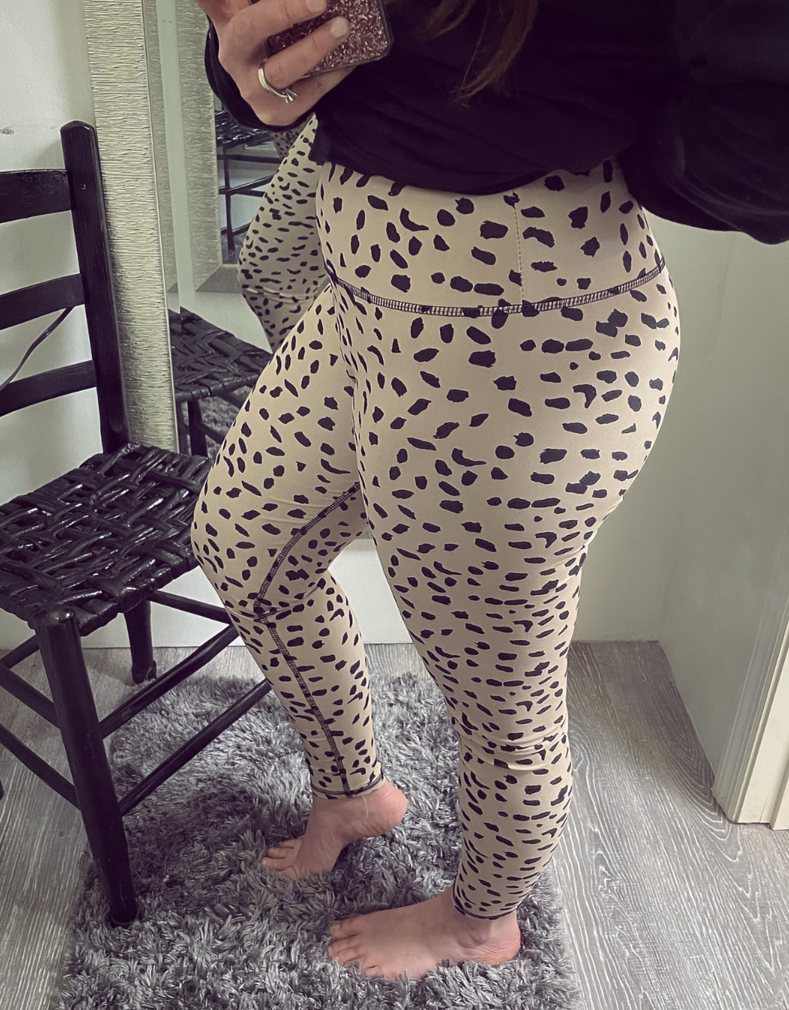 Abstract Dotted Active Leggings