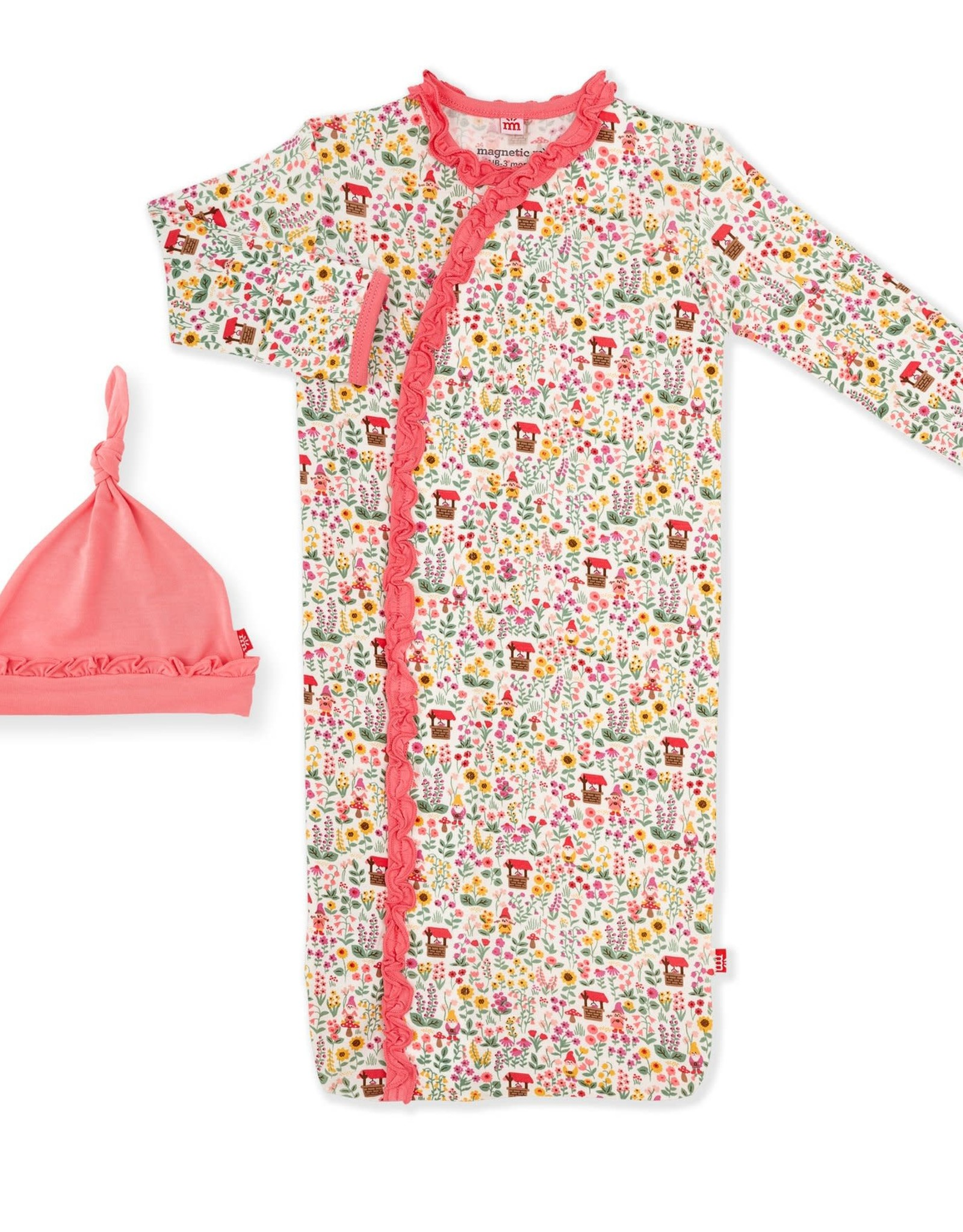 Magnetic Me Gnome Sweet Gnome Modal Magnetic Gown & Hat Set NB-3M