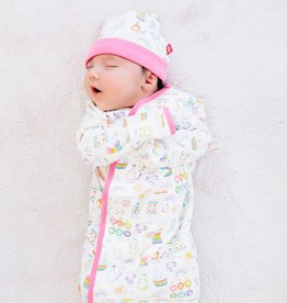 Magnetic Me Rainbow Sprinkles Magnetic Gown & Hat Set Size NB-3M