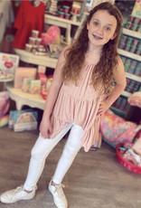 Hayden Whitney Knit Tiered Tunic in Blush
