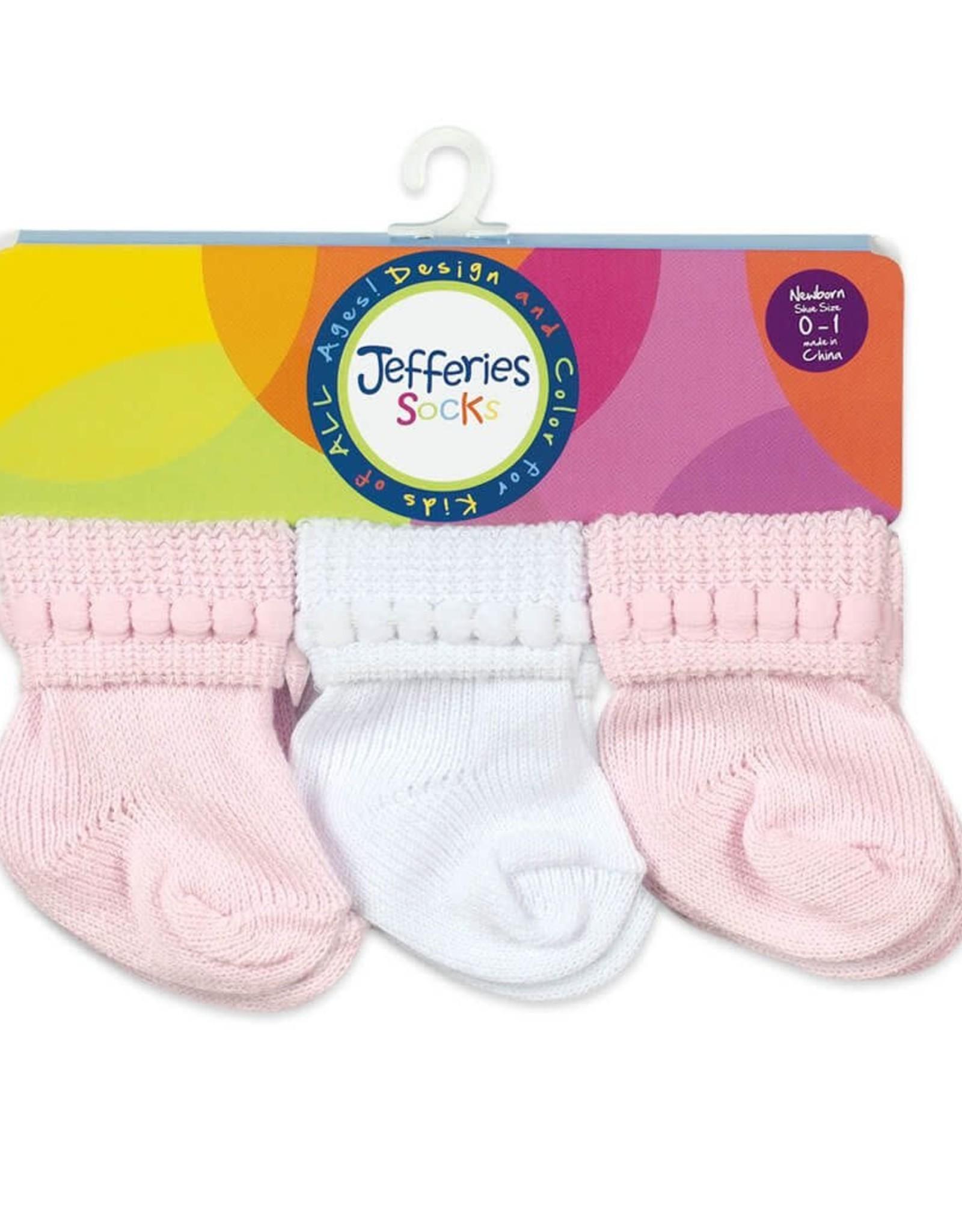 Jefferies Socks Rock-A-Bye Turn Cuff Socks 6 Pair Pack Size NB