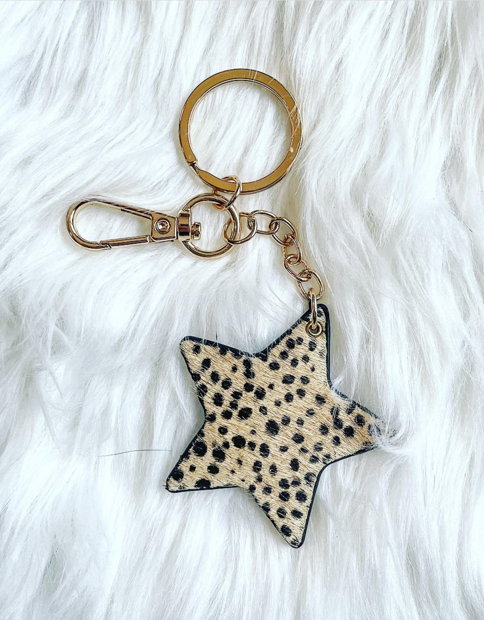 Cheetah Star Key Chain