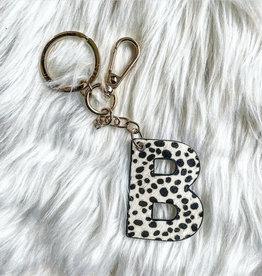 Initial Keychain - B