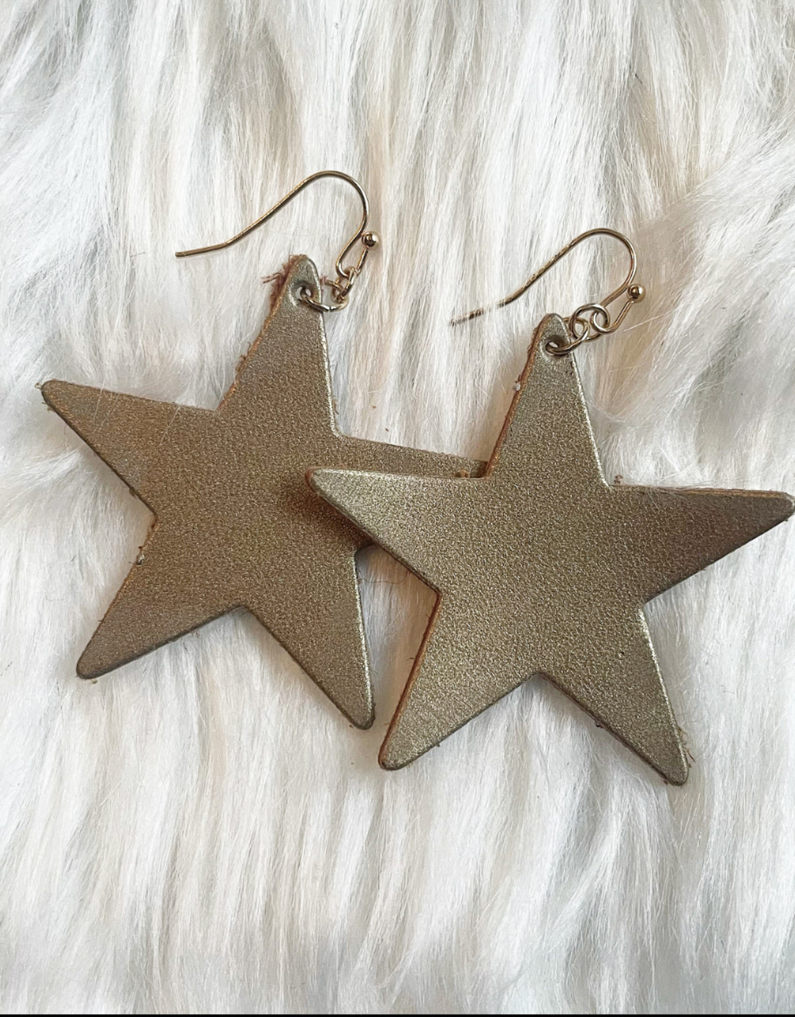 Star Leather Earring