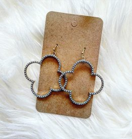 Clover Earring in Grey