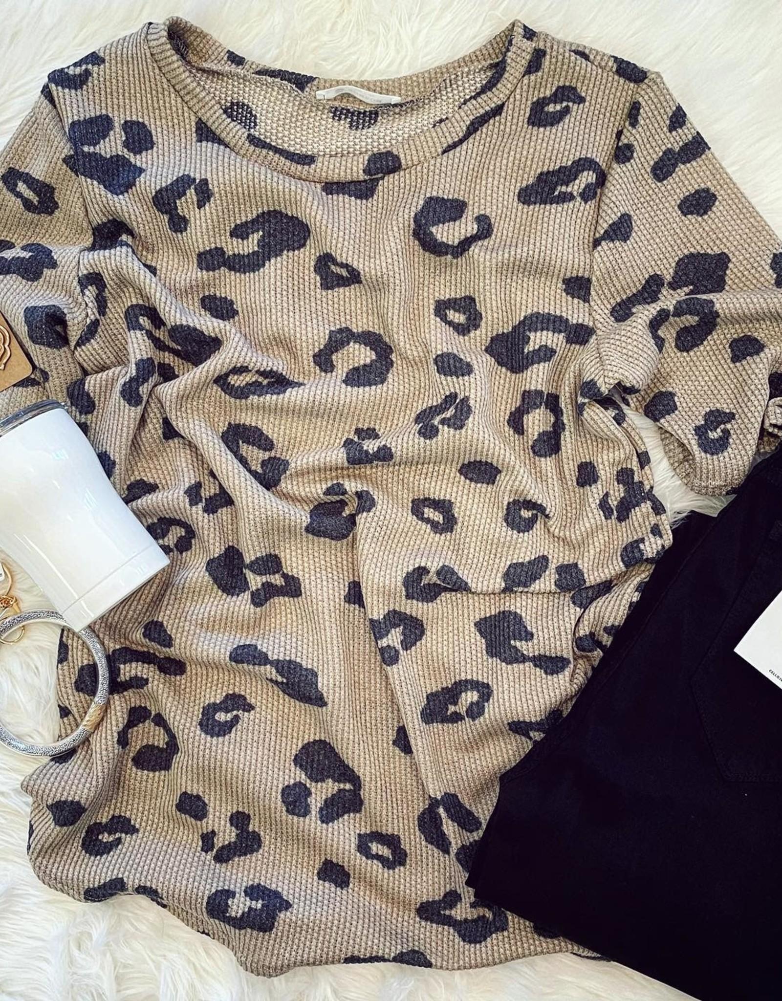 Brianna Leopard Top