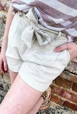 Hayden Peyton Bow Short in Oatmeal