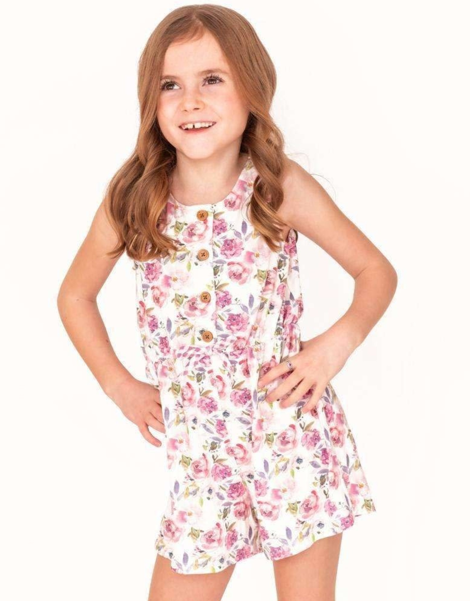 Charlies Project Violet Blossom Bamboo Girls Short Romper