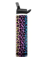 SIC 27 oz Neon Leopard Stainless Steel Water Bottle