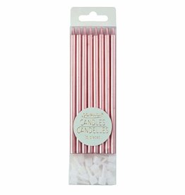 "Creative Education Metallic Pink Candles, 5"" (16 pcs)"