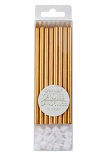 "Creative Education Metallic Gold Candles 5"" (16 pcs)"