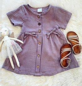 Honeydew Sarah Linen Button Dress in Lavender