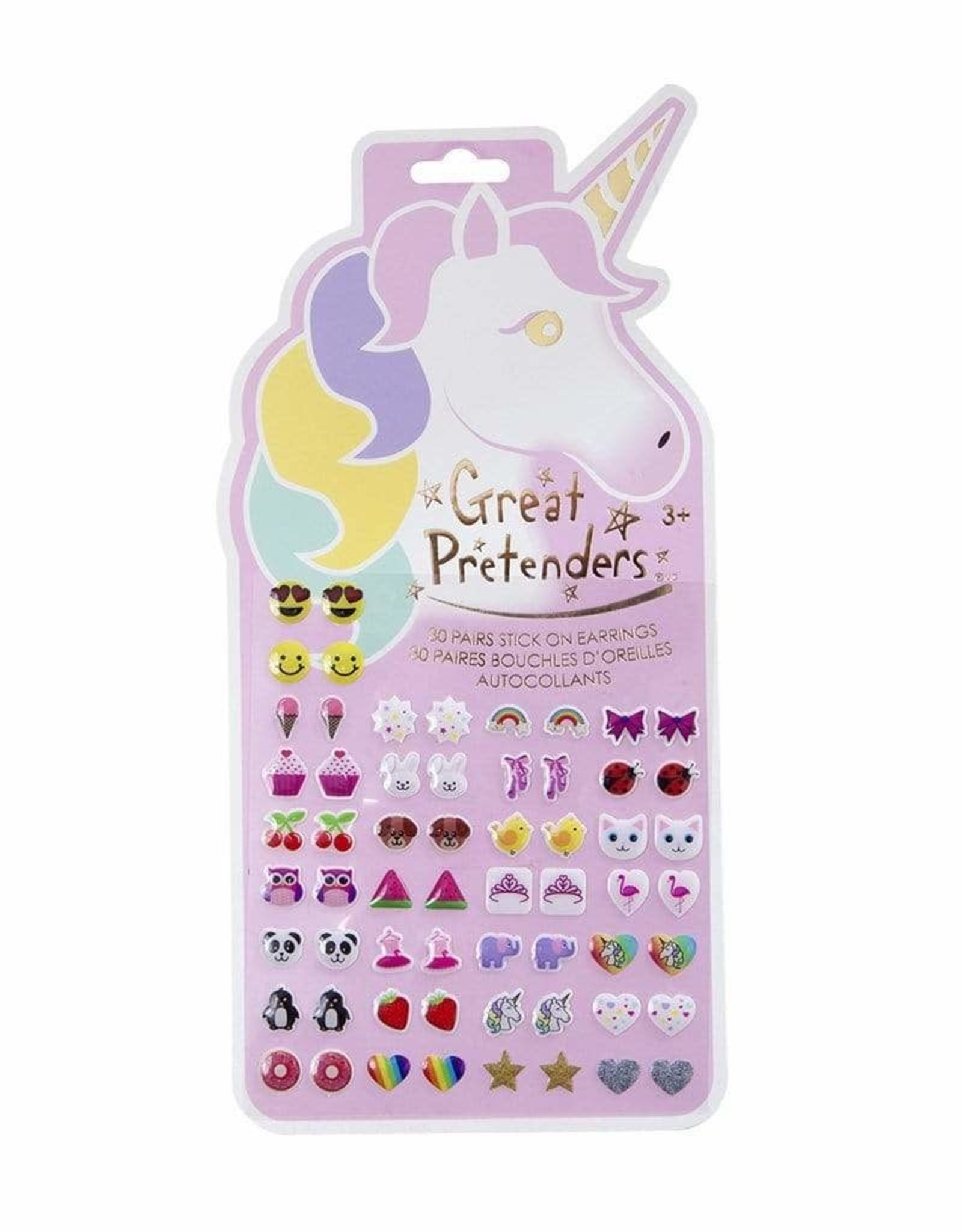 Creative Education Unicorn Sticker Earrings - 60 Pcs Carded