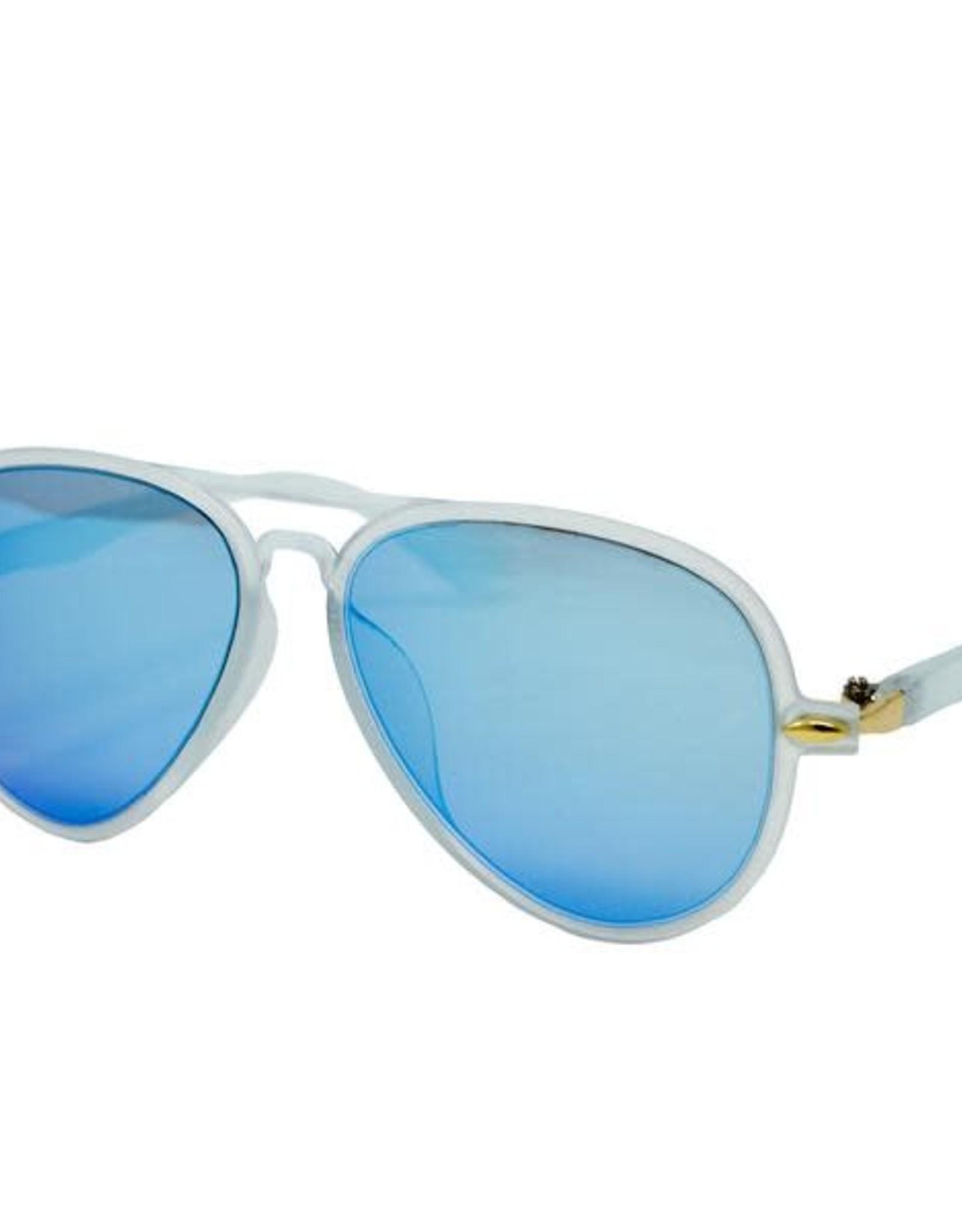 Zomi Gems Cool Blue Aviator Sunglasses