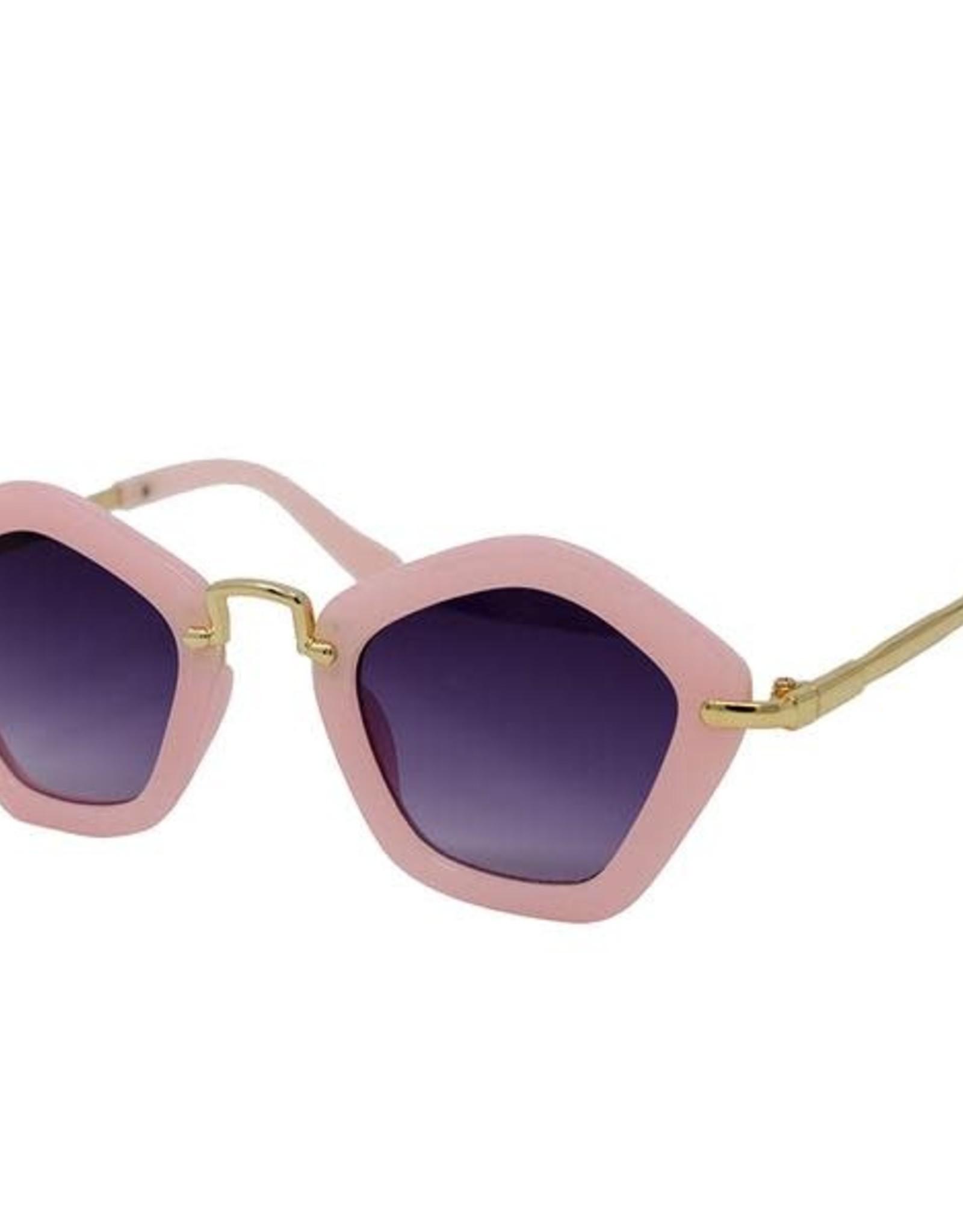Zomi Gems Pink Polygon Sunglasses