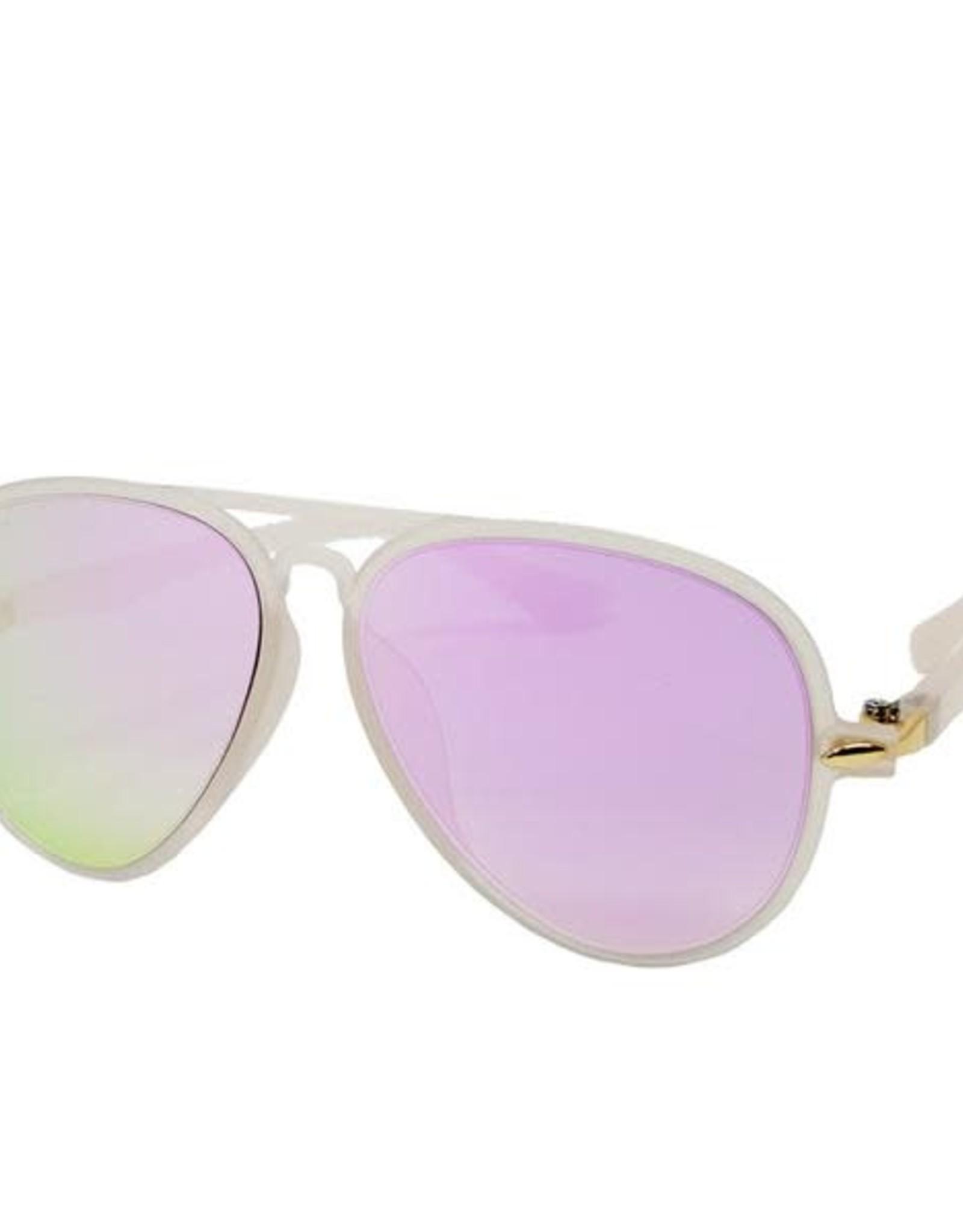 Zomi Gems Light Pink Aviator Sunglasses