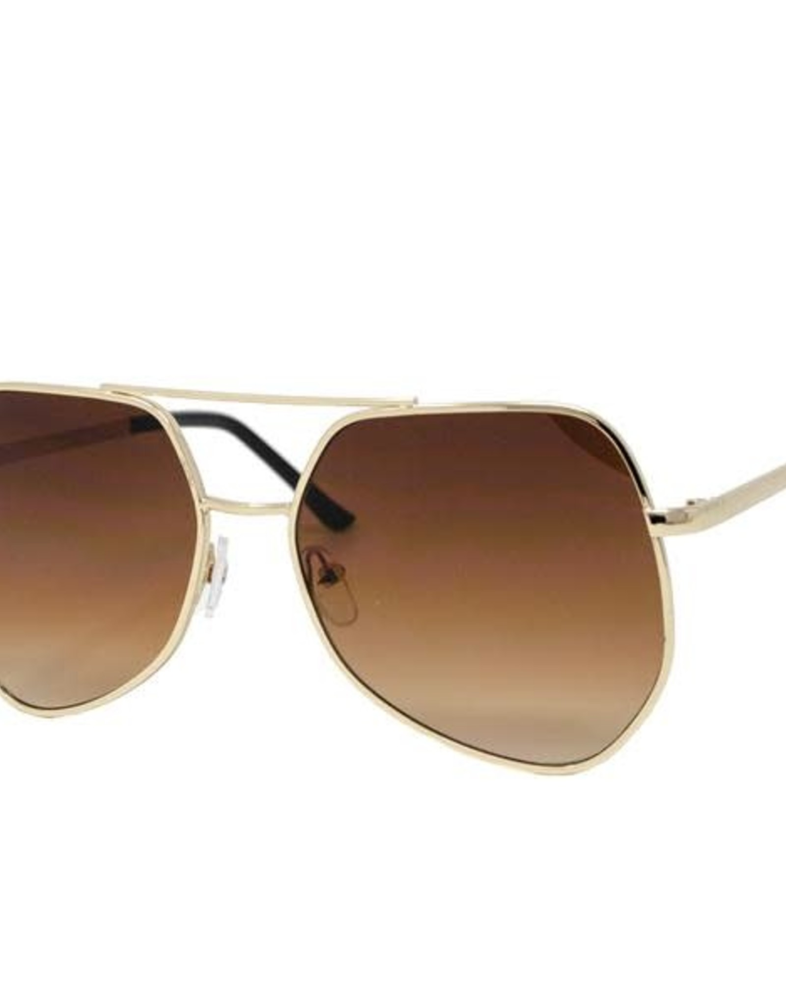 Zomi Gems Gold Retro Sunglasses