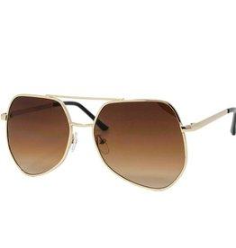 Zomi Gems Gold Retro Sunglasses