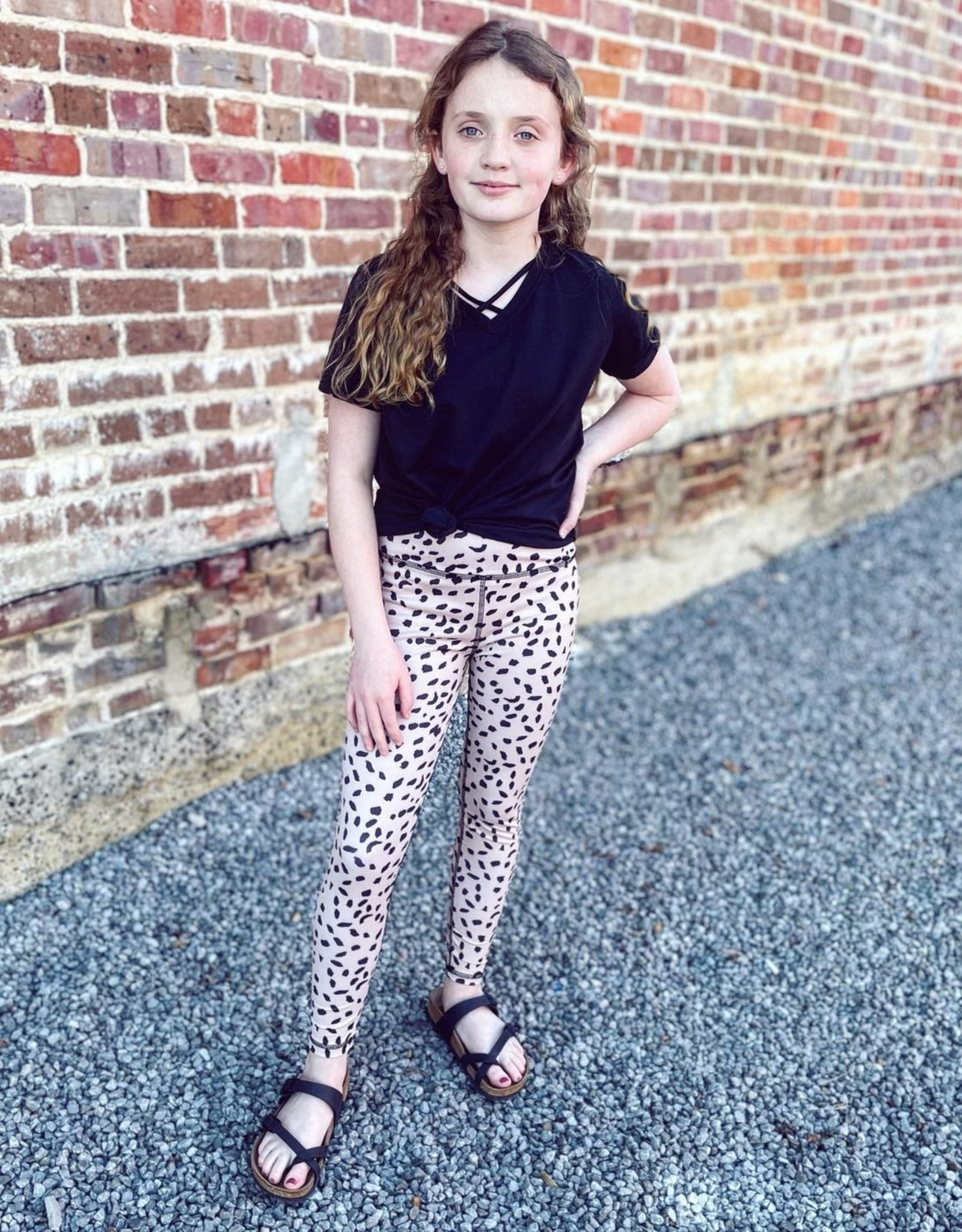 Hayden Abstract Dotted Active Leggings
