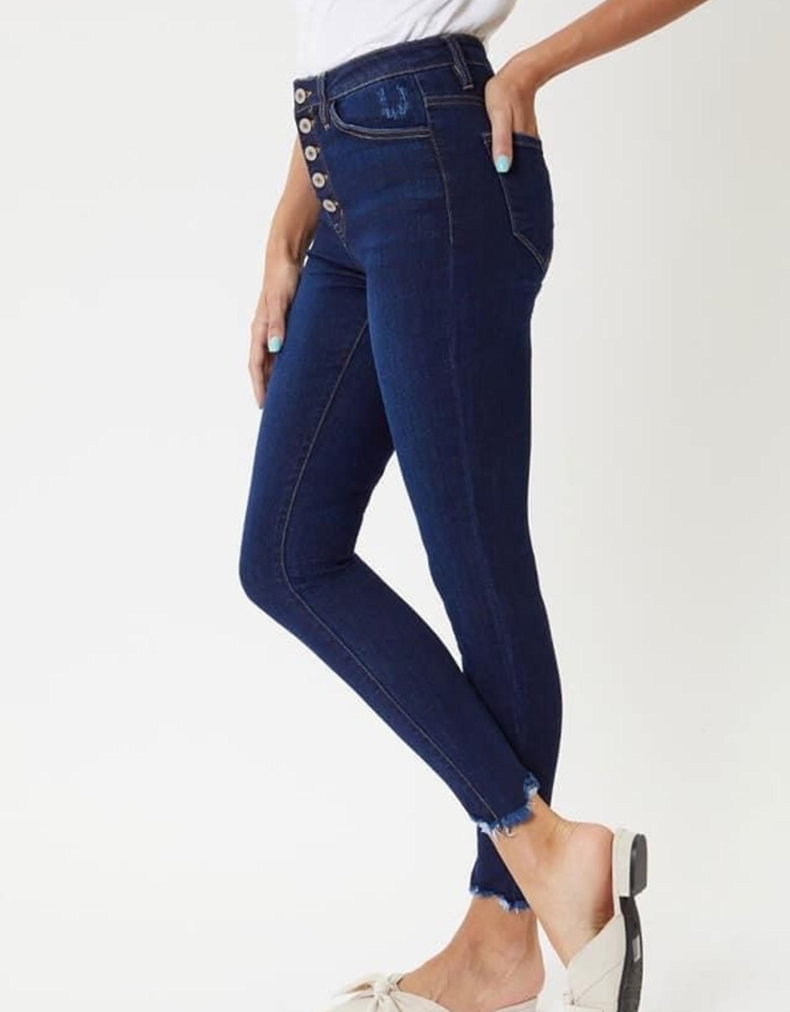 KanCan Super High Rise Super Skinny Jean in Dark Denim