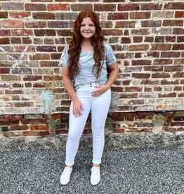 KanCan High Rise Skinny Jean in White