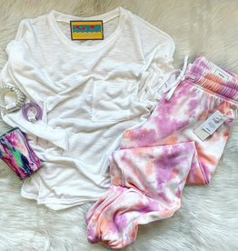 Jammie TieDye Jogger in Pink