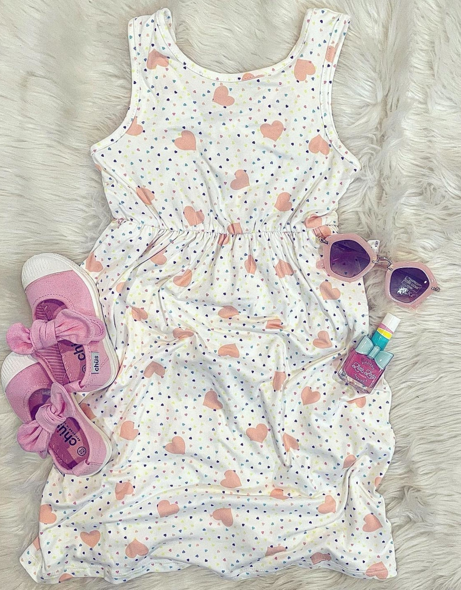 Willow Dress in Heart Print
