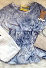 Penny TieDye BabyDoll Top in Blue