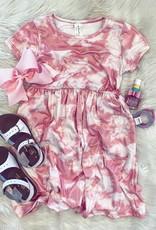 Allison Dress in Pink TieDye