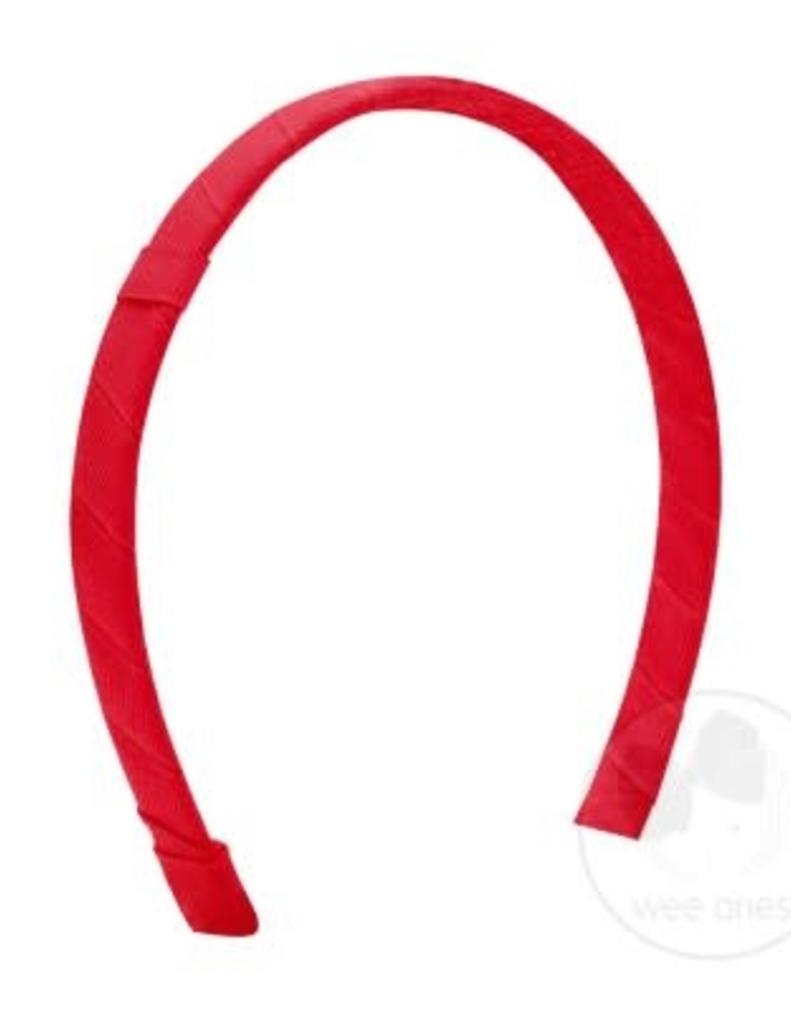 WeeOnes Grosgrain Add-a-Bow Headband Red
