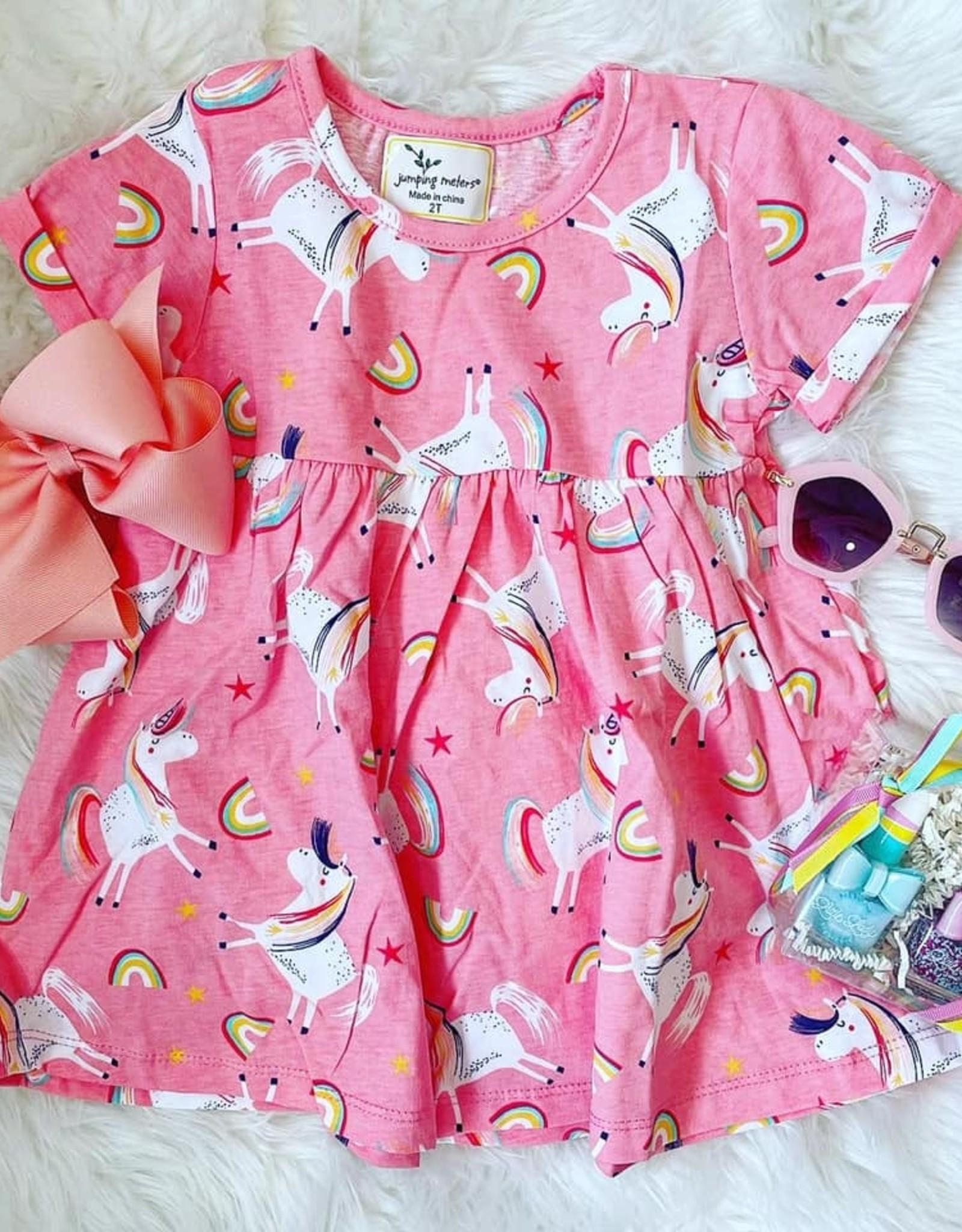 Bailey Unicorn Dress in Peach