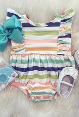 Be Girl Clothing Playsuit Bubble Romper in Whimsy Stripes
