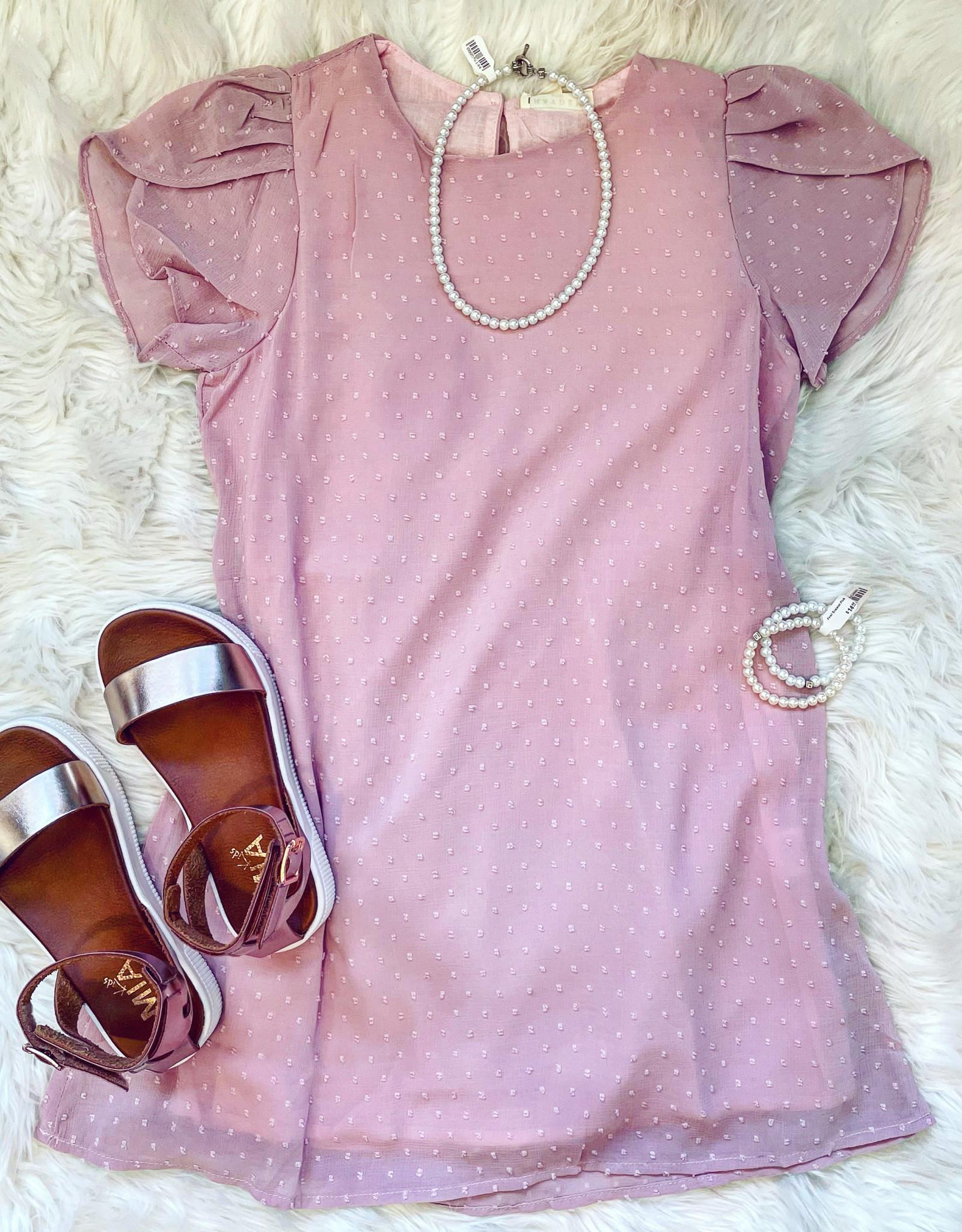 Hayden Iris Dress in Mauve