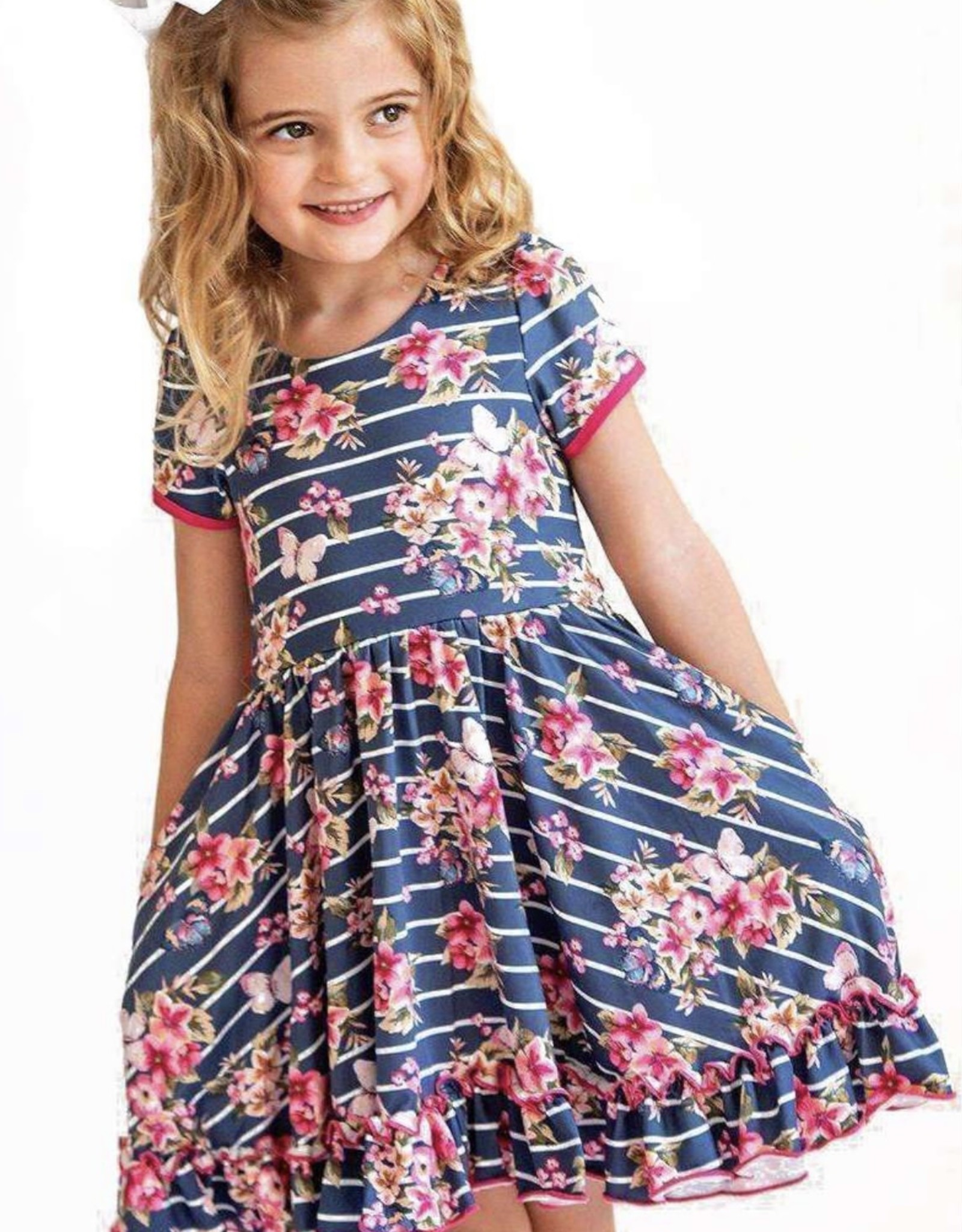 Charlies Project Vintage Garden - Cross Back Twirl Dress