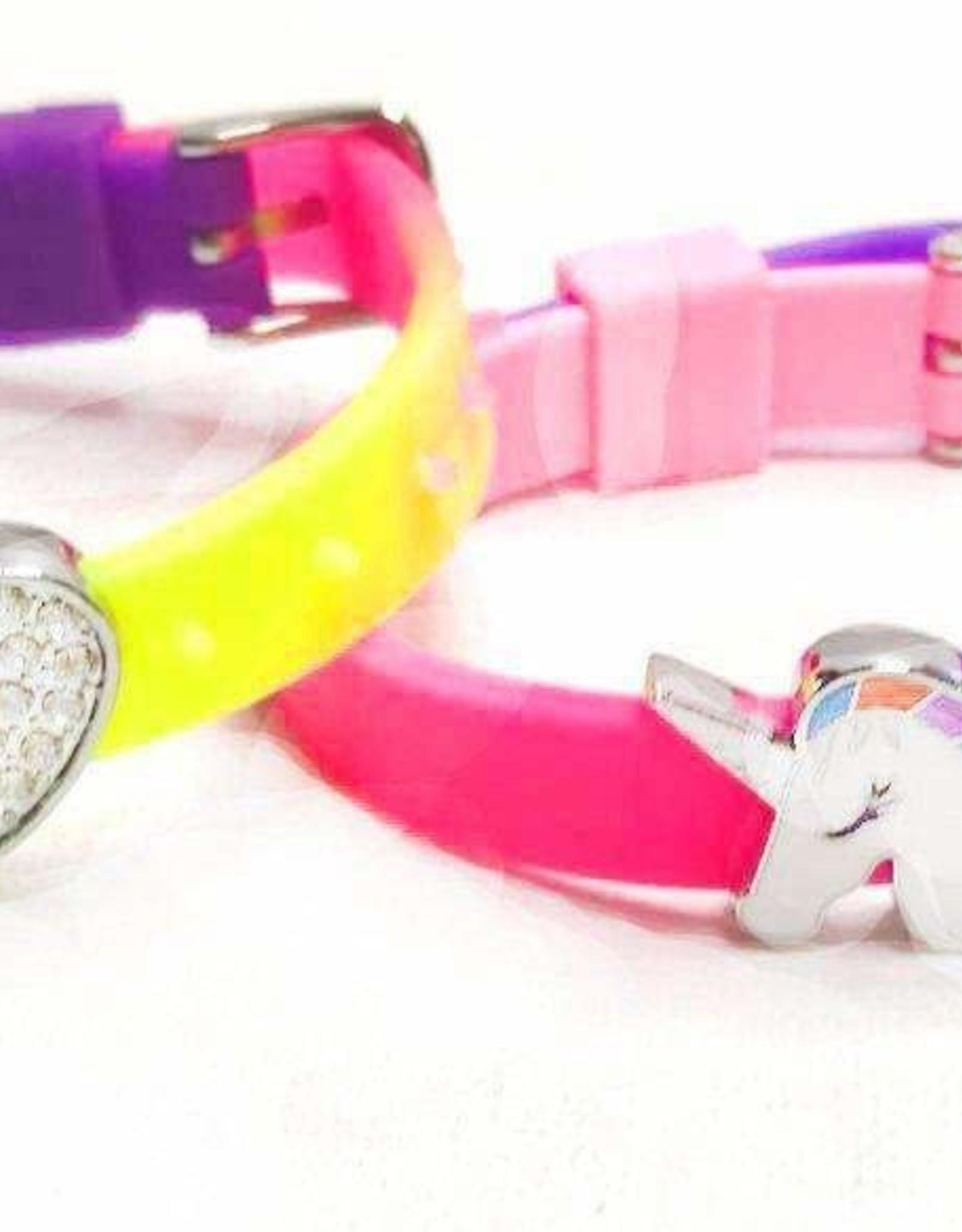 Charlies Project Gummies Purple Rainbow Bracelet 2/Pk