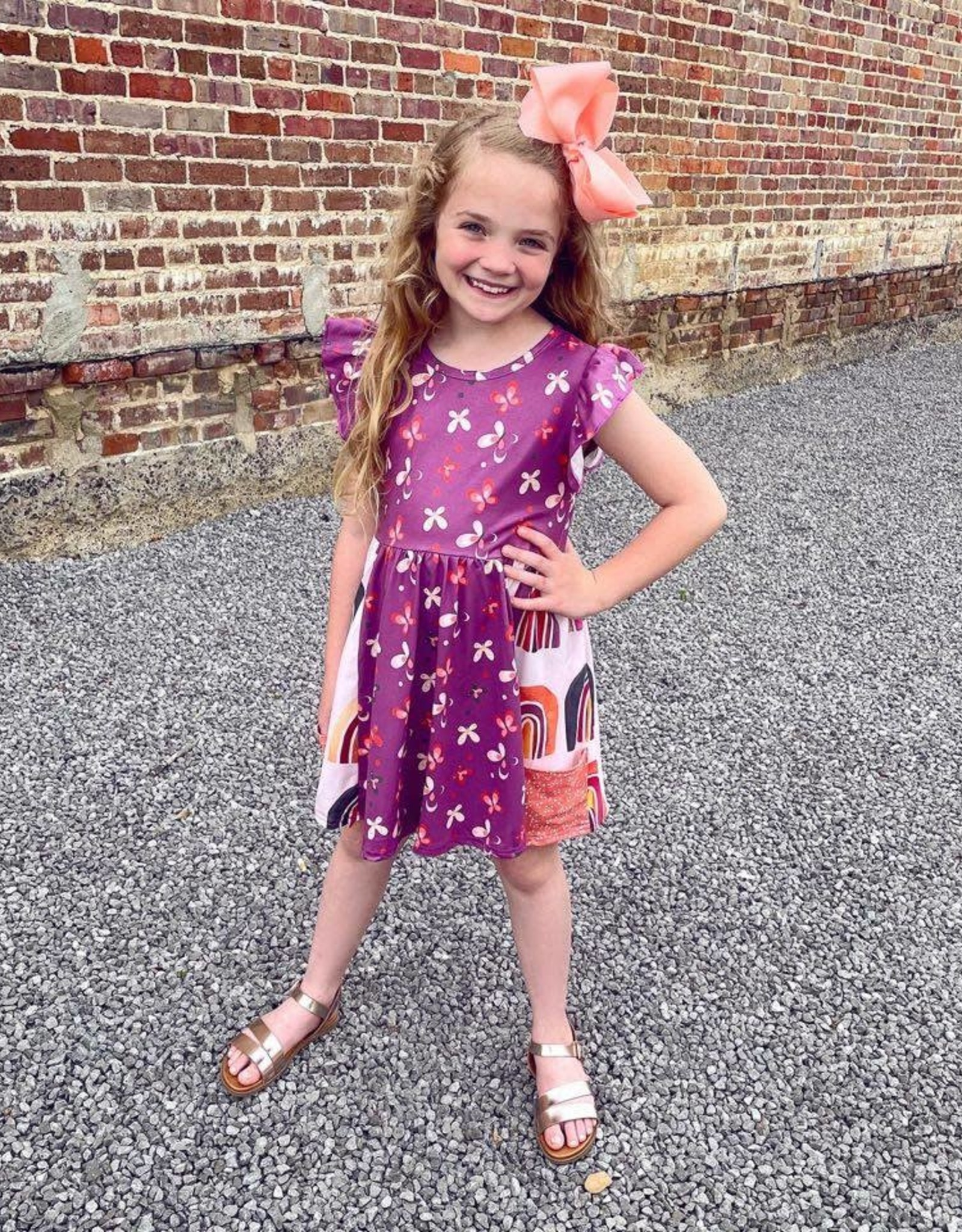 Ava Kate Butterfly and Rainbow dress