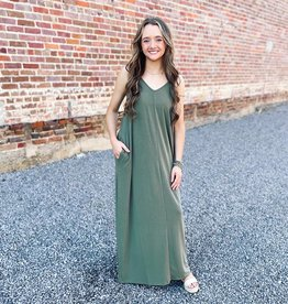 Chasidy Maxi Dress in Army Green