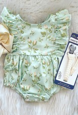 Be Girl Clothing Playsuit Bubble Romper- Mint Buds