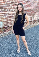 Kayla Romper in Black