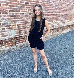 Kayla Romper in Black