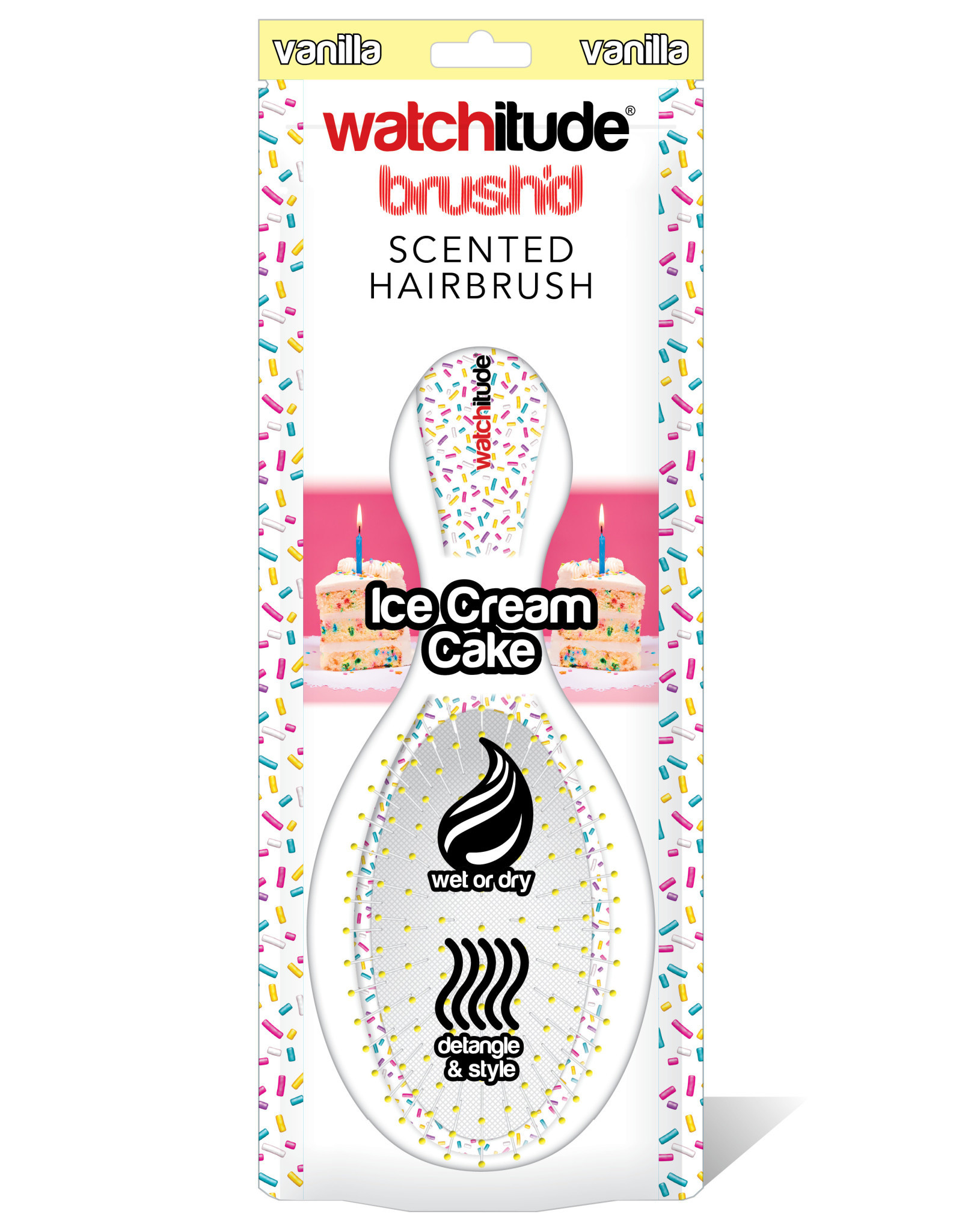 Watchitude Ice Cream Cake - Scented Hair Brush