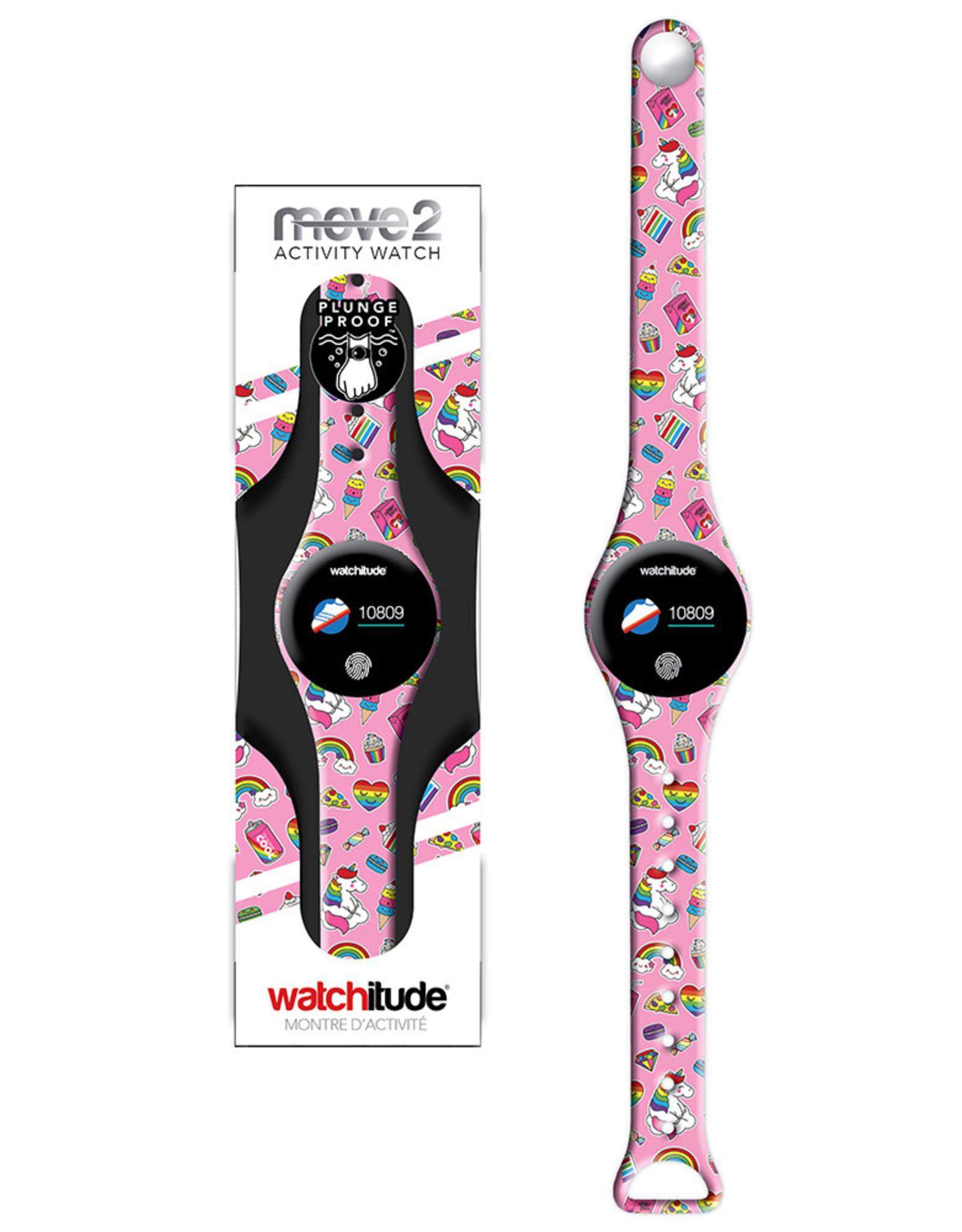 Watchitude Unicorn Treats - Move2 - Kids Activity Plunge Proof Watch