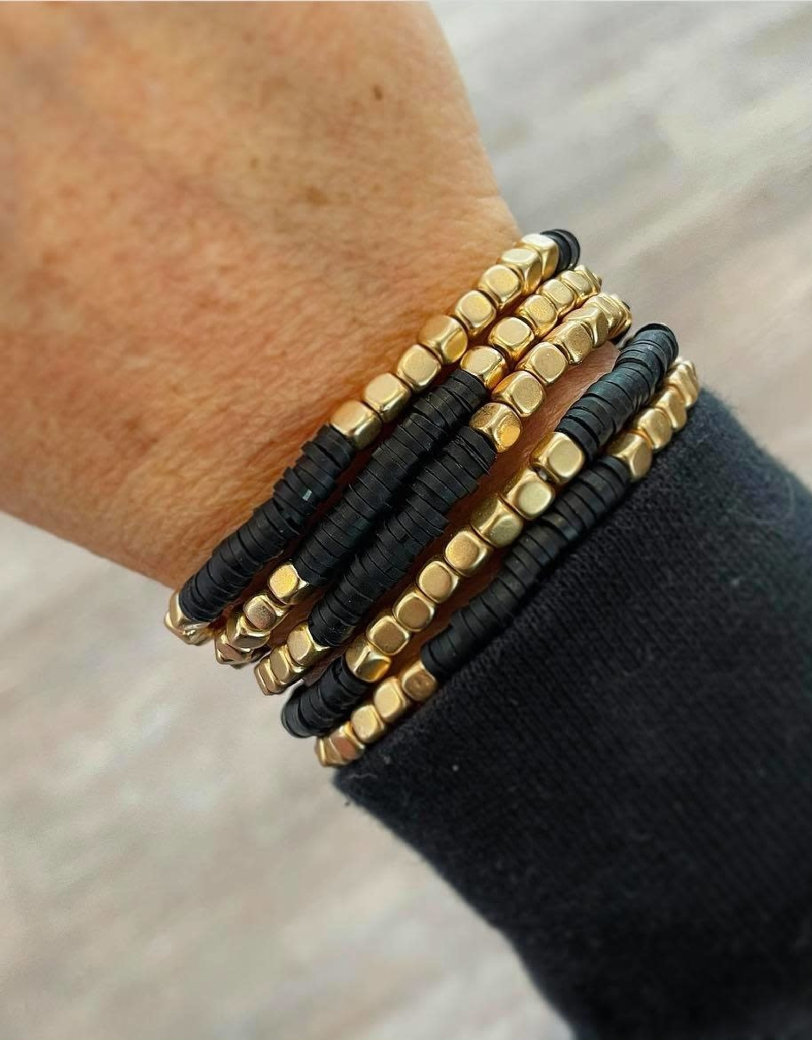 Kate Stretch Bracelet Set in Black